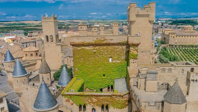 Fotografía del castillo de Olite